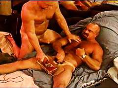 gay, punishment, session, beefy, kinky, self, bdsm, muscled, bear, muscular, masturbating, ball