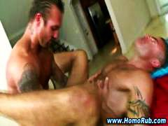 cumshot, massage, gives, gay, buttfucking, guy, bear, straight, anal