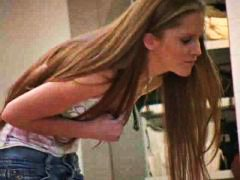 Emma,incredible blonde honey heads into a shopping mall!!