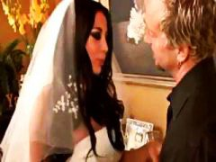 Big-titted brunette audrey bitoni plays bride and pounds the greatest fellow
