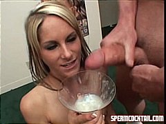 blondiner, sperm, cumshot, spermslugning, blowjobs