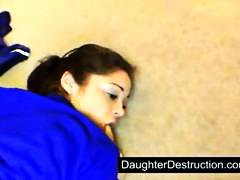 Youthfull daughter pumelled firm
