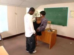 Yam-sized ebony teacher torn up by student
