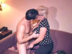 Big-boobed mature blonde cheating her hubby