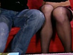 Lady in pantyhose ravaged a fuck-stick