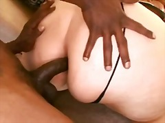 big ass, fat, chick, fishnets, ass, butt, doggystyle, fucked, hardcore, close up, interracial
