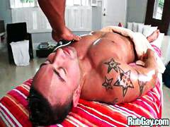 business, pornstar, muscled, big cock, oiled, ass, fucking, massage, drilled, gay