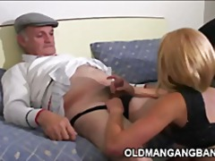 Grandpas penetrating escort gal