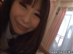 handjob, uniform, asian teen, blowjob, young, asian, schoolgirl, teen, gives, japanese
