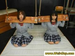 poor asian schoolgirls gets disciplined
