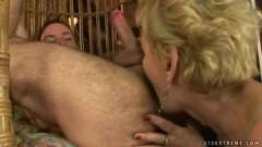 Granny loves horny hook-up with a man