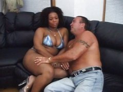 Enormous ebony doll gets her big caboose screwed
