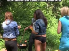 steaming student damsels work one knob