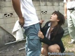 interracial, outdoor, sex, japanese, voyeur, lady, blowjob, public, asian