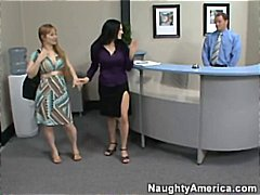 Boss's wifey catches staff penetrating