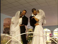 brides pounded after wedding