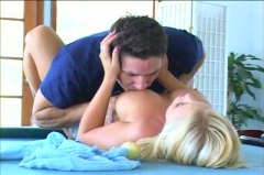 Brittney skye hook-up on a pool table