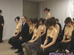 Asian ladies go to church half naked part6