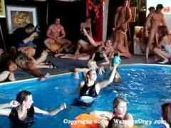 Group hook-up swinger's pool party