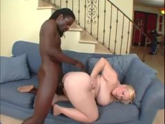 blonde, hardcore, tattoo, black cock, cock, shaved, bbw, interracial, black, riding, fat