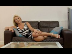 Blonde eurobabe viktorie is an harmless-looking lady