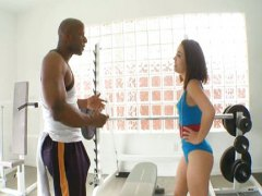 Kristina Rose, bata, gym, itim, interracial, pwet