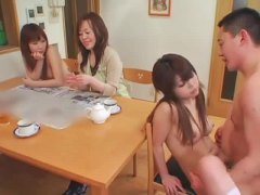 cute, small tits, riding, room, brunette, threesome, fucked, hairy, fingering, japanese, babe