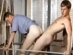 Vintage lad gay oral and ass-fuck