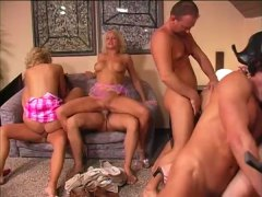 Scorching mummy foursome assbanging