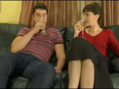 Mature brunette is given a drink that makes her woozy and she gets penetrated