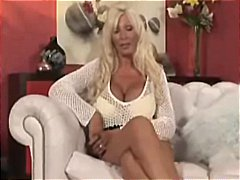Big-boobed blonde british mummy gets torn up and has a sloppy facial
