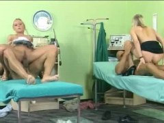 Hospital foursome with great assfuck xxx