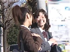 blowjob, outdoor, voyeur, jav, babe, public, part5, interracial, sex, japanese, asian, uniform