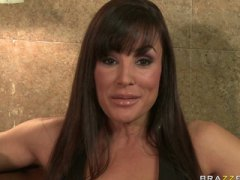 Meaty orb mummy brunette wifey pornstar lisa ann spices up her relati