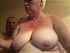 Huge old blonde fledgling granny opens up her plump cunny broad an gets torn up by spouse