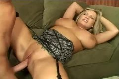 Large boobies curvaceous mummy plowed on couch