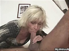 Blonde mother in law seduces him and deep-throats and pulverizes, and is caught