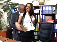 Office secretary penetrated in tights and heels