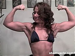 inari vachs,  kinky, muscle, inari vachs, biceps, small-tits, fitness, brunette, fit, gym
