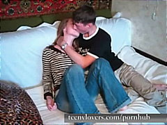 amateur, homemade, couple, teenylovers.com, kissing, blonde, blow-job