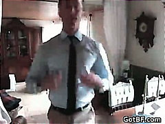 Slender dad takes off for the camera by gotbf