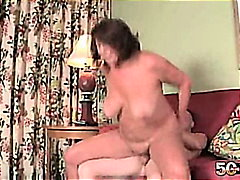 brunette, granny, milf, wife, cum-shot, older, gilf, son, pussyfuck, cougar, mature, old, big-tits,