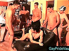 Stud gets plowed by group on sofa