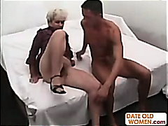Grandma gets deep pounded by a youthful shaft