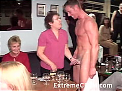 Insatiable women deepthroat fuck-stick at cfnm party