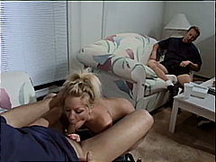 shaved, glamour, blonde, threesome, blowjob, rimming, swallow, anal sex