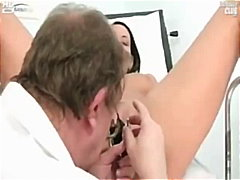 Carmen gets her twat gaping by old insane gyno doctor