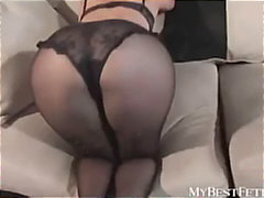 Ebony tights fetish