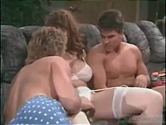 Christy canyon in adorable three-way