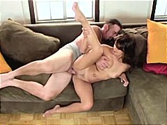 Brunette charmane starlet munches and fucks the tv repair fellow for payment